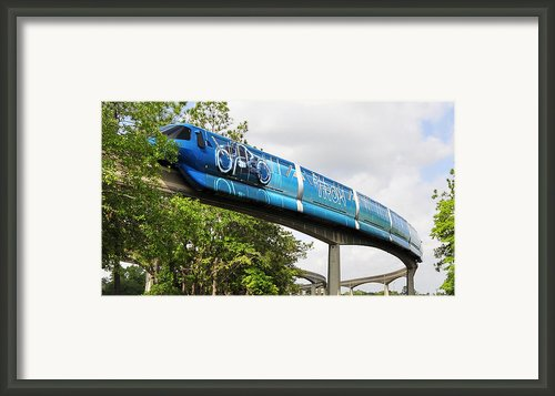 Tron A Rail Framed Print By David Lee Thompson