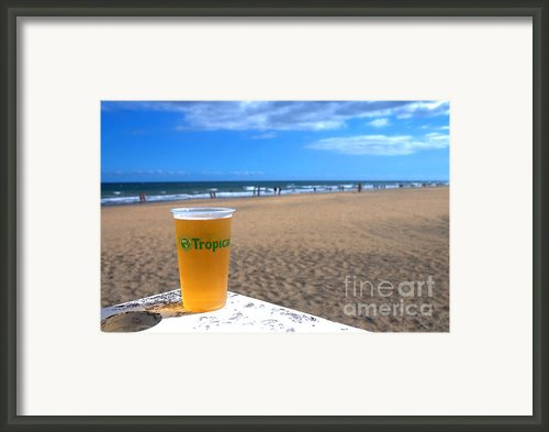 Tropical Beer On The Beach Framed Print By Rob Hawkins