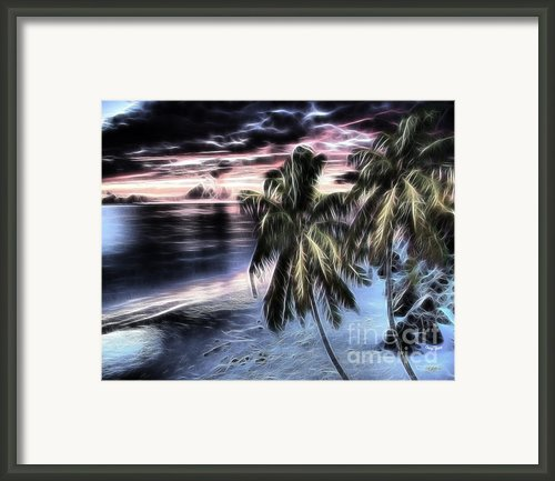 Tropical Evening Framed Print By Cheryl Young