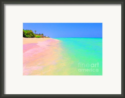 Tropical Island 7 - Painterly Framed Print By Wingsdomain Art And Photography