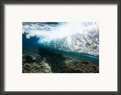 Tropical Wave Curl Framed Print By Dave Fleetham - Printscapes