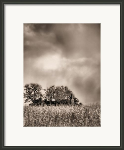 Trouble Brewing Ii Bw Framed Print By Jc Findley