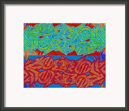 Trouble Tapestry 2 Framed Print By Randall Weidner
