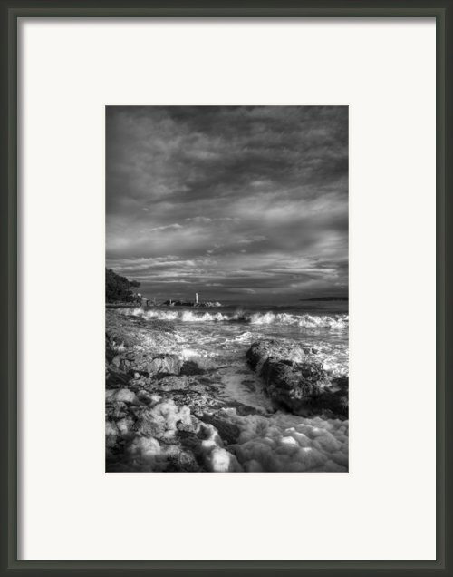 Trouble Water Framed Print By Yannick Faure