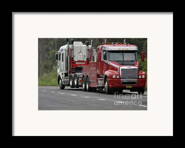 Truck Tow Framed Print By Joanne Kocwin
