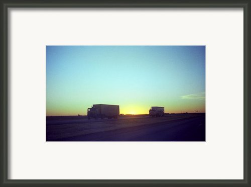 Trucker Sunset Framed Print By Frank Romeo