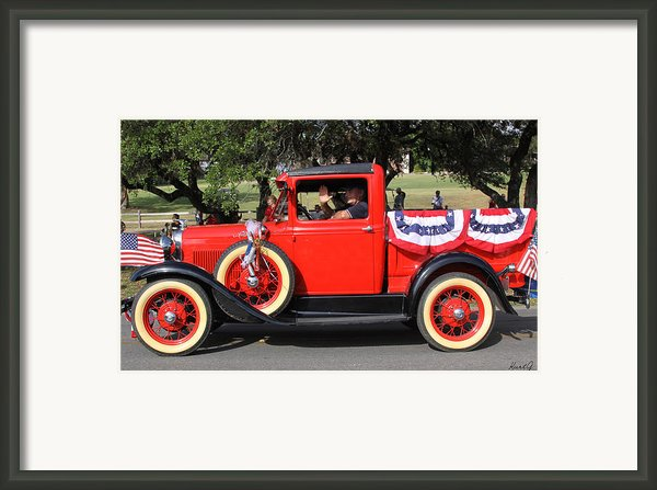 Truckin On The 4th Framed Print By Kurt Gustafson