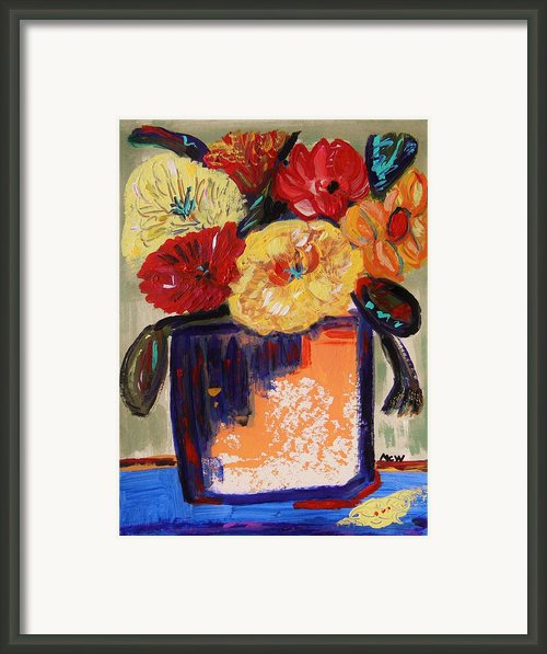 True Colors In A Vase Framed Print By Mary Carol Williams