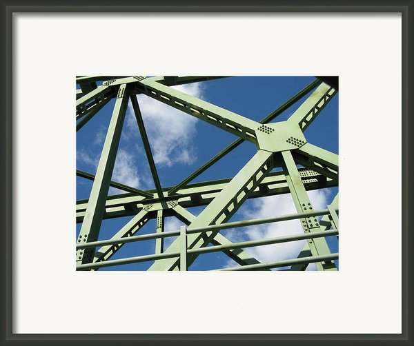 Truss Framed Print By Arlene Carmel