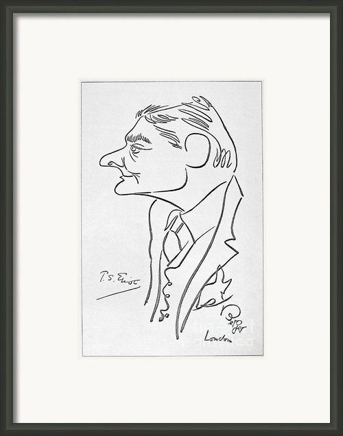 T.s. Eliot (1888-1965) Framed Print By Granger