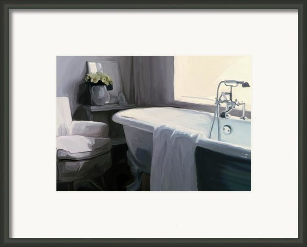 Tub In Grey Framed Print By Patti Siehien