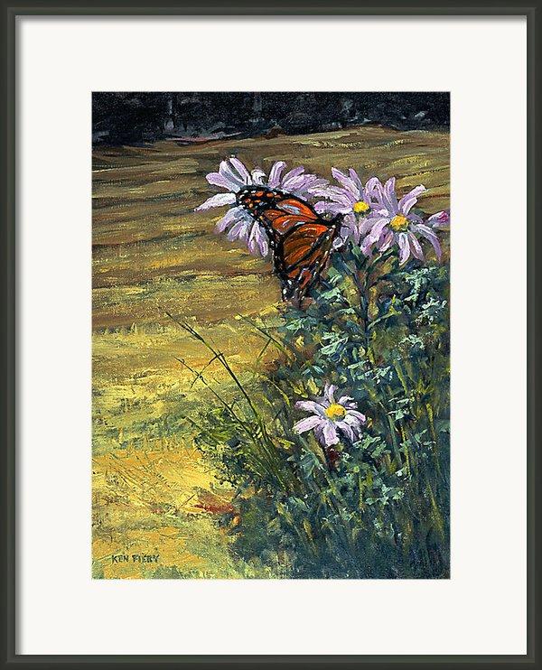 Tuft Of Flowers Framed Print By Ken Fiery