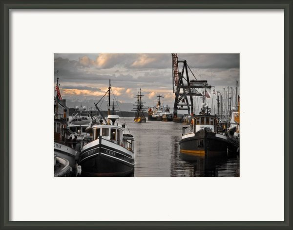 Tugs And Lady Washington Framed Print By Craig Perry-ollila