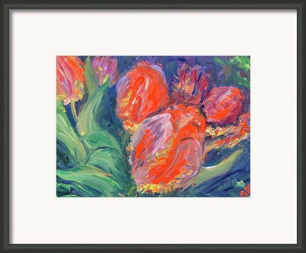 Tulips Framed Print By Barbara Anna Knauf