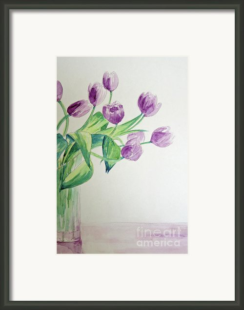 Tulips In Purple Framed Print By Julie Lueders