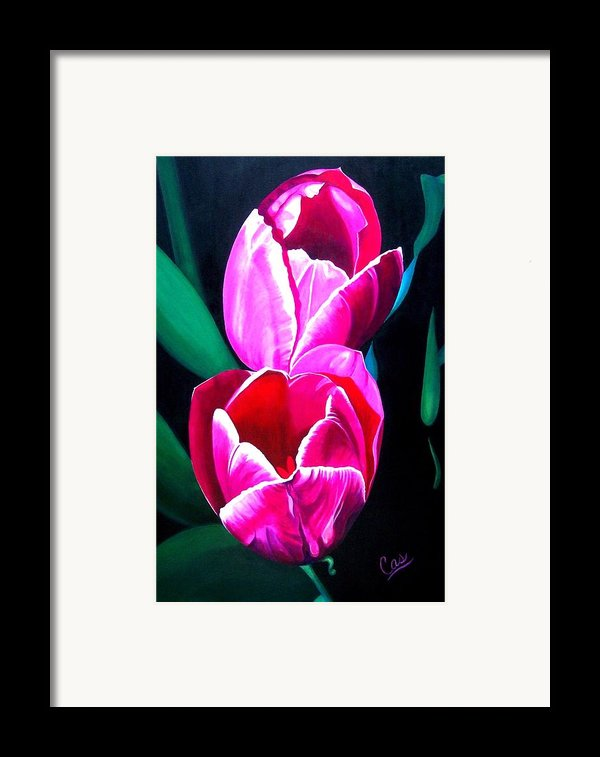 Tulips Framed Print By Karen Casciani