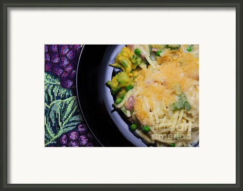 Tuna Noodle Casserole Framed Print By Andee Photography