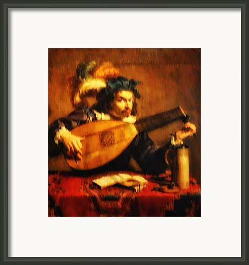 Tuning Up The Lute Framed Print By Bill Cannon