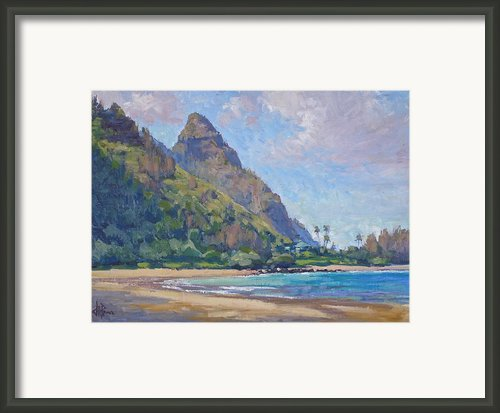 Tunnels Beach Framed Print By Jenifer Prince