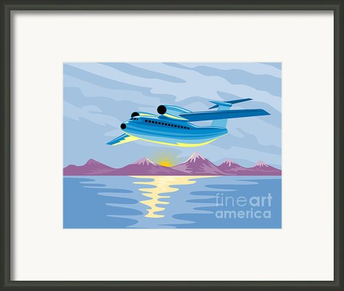 Turbo Jet Plane Retro Framed Print By Aloysius Patrimonio