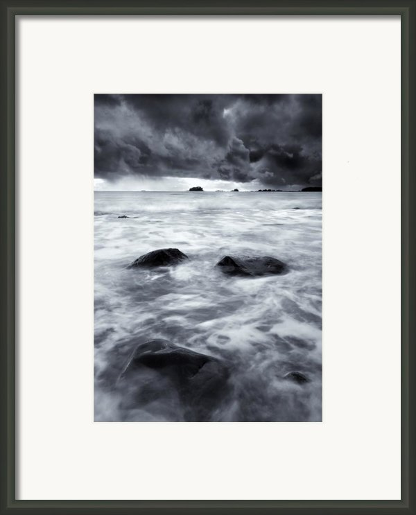 Turbulent Seas Framed Print By Mike  Dawson