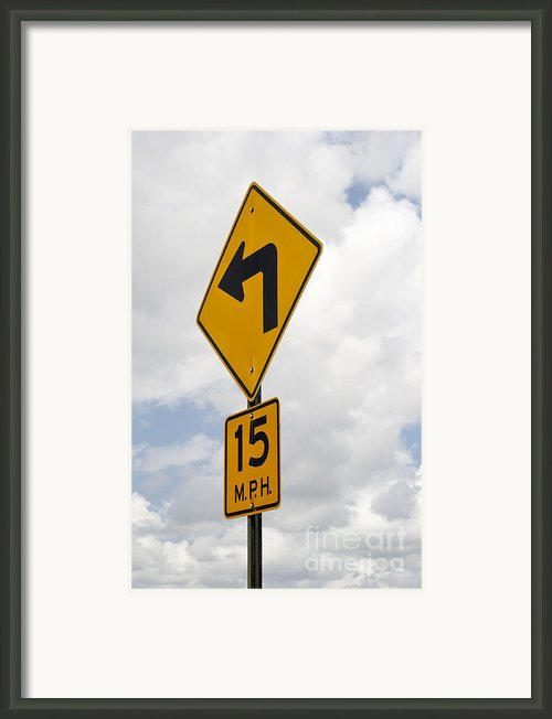 Turn Sign Framed Print By Blink Images