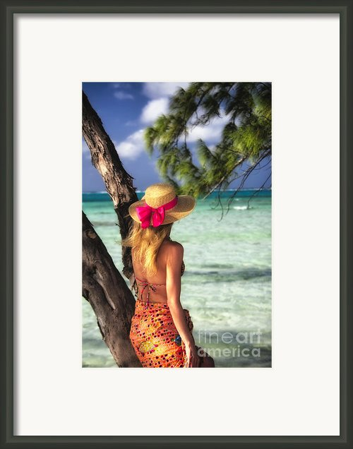 Turquoise Dreams Ii Framed Print By George Oze