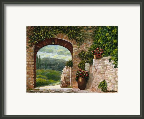 Tuscan Arch Framed Print By Italian Art- Angelica