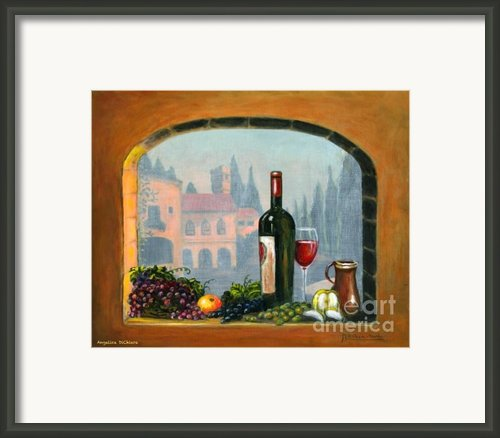 Tuscan Arch Wine Grape Feast Framed Print By Italian Art