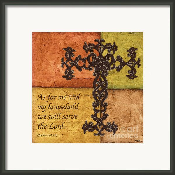 Tuscan Cross Framed Print By Debbie Dewitt