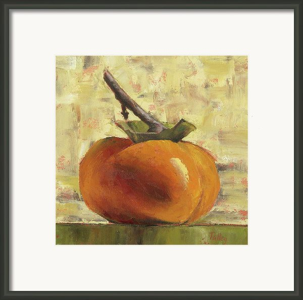 Tuscan Persimmon Framed Print By Pam Talley
