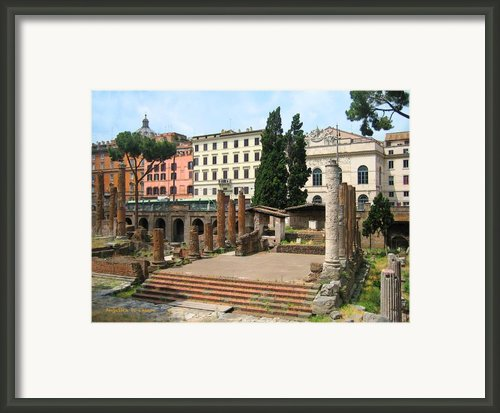 Tuscany- Roman Forum Framed Print By Italian Art- Angelica