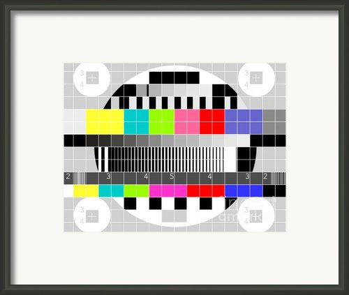 Tv Multicolor Signal Test Pattern Framed Print By Aloysius Patrimonio