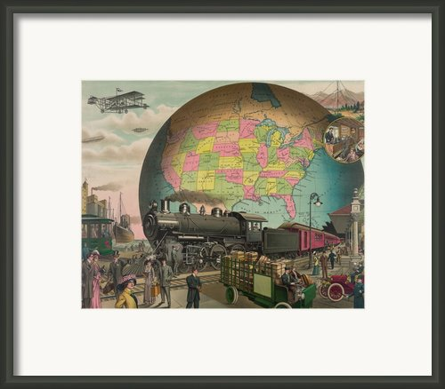 Twentieth Century Transportation. 1910 Framed Print By Everett