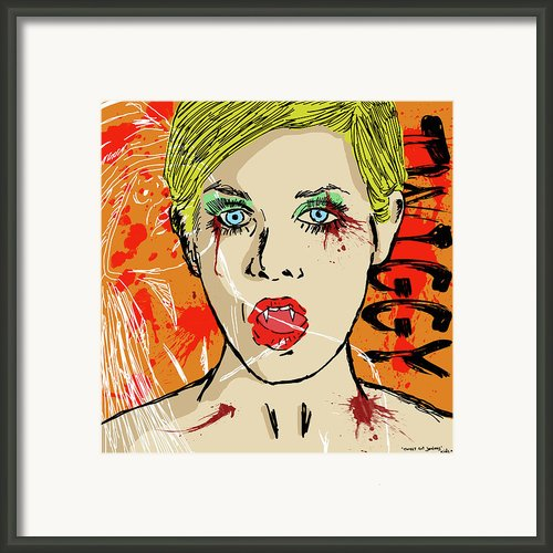 Twiggy Got Jealous Framed Print By Sean King