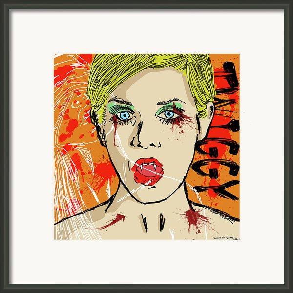 Twiggy Got Jealous Framed Print By Sean King
