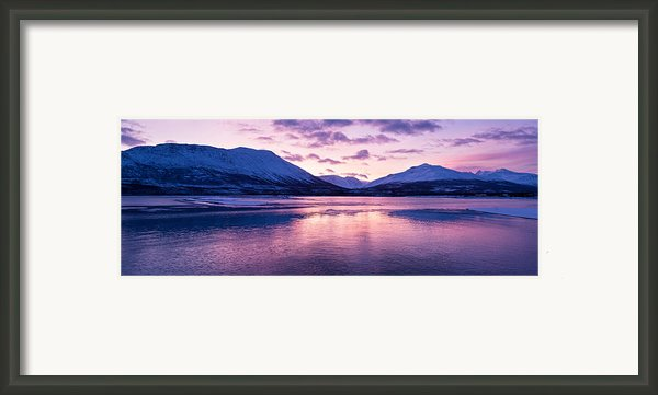 Twilight Above A Fjord In Norway With Beautifully Colors Framed Print By Ulrich Schade