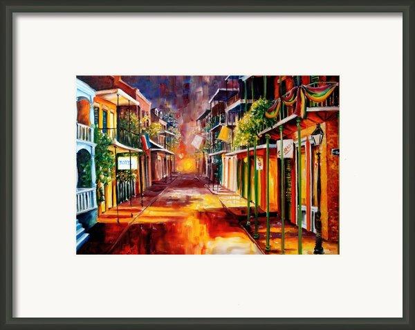 Twilight In New Orleans Framed Print By Diane Millsap