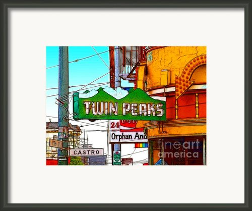 Twin Peaks Bar In San Francisco Framed Print By Wingsdomain Art And Photography