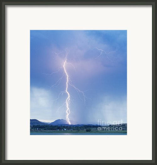 Twisted Lightning Strike Colorado Rocky Mountains Framed Print By James Bo Insogna