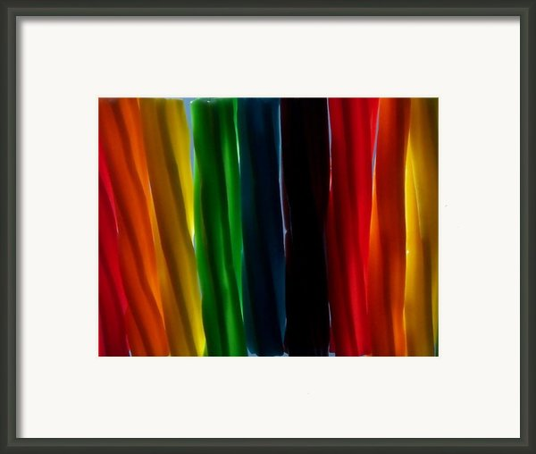 Twizzlers Framed Print By Anna Villarreal Garbis