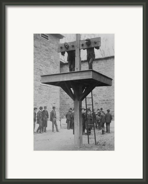 Two African American Men Confined Framed Print By Everett