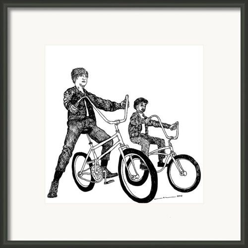 Two Cool Riders Framed Print By Karl Addison