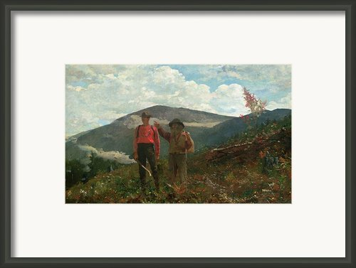 Two Guides Framed Print By Winslow Homer