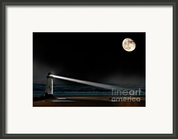 Two Guiding Lights Framed Print By Meirion Matthias