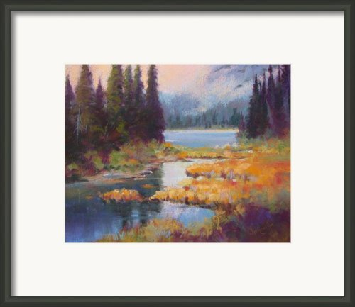 Two Medicine Morning Framed Print By Christine  Camilleri
