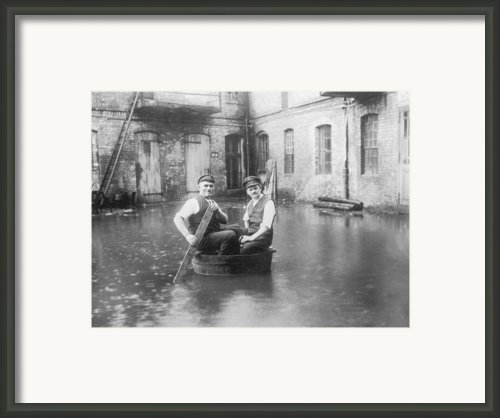 Two Men In A Tub Framed Print By Fpg