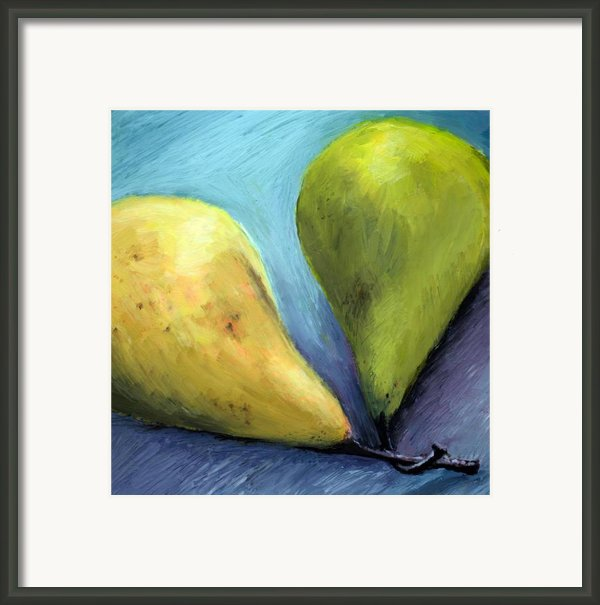 Two Pears Still Life Framed Print By Michelle Calkins