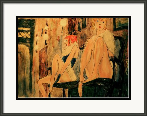 Two Prostitutes In Paris I Framed Print By Ricardo Di Ceglia