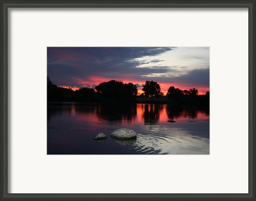 Two Rocks Sunset In Prosser Framed Print By Carol Groenen